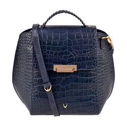 Alive 03 Women's Shoulder bag, Croco Melbourne Ranch,  midnight blue