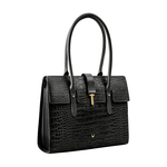 Mocha 02 Women s Handbag, Croco,  black