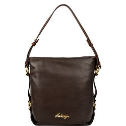 Lucy 01 Handbag, thick lamb snake,  brown