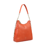 CHARLESTON 02 WOMEN S HANDBAG BABY CROCO,  lobster