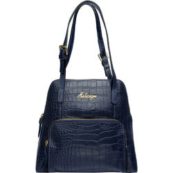 109 01 Handbag, croco,  blue