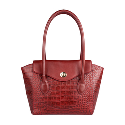EE GISELE 01 WOMENS HANDBAG CROCO,  red