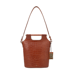 BLACK MAGIC 02 WOMENS HANDBAG CROCO,  tan