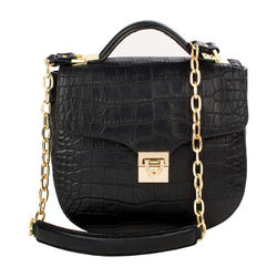 Sb Elsa Women's Handbag, Croco Melbourne Ranch,  black