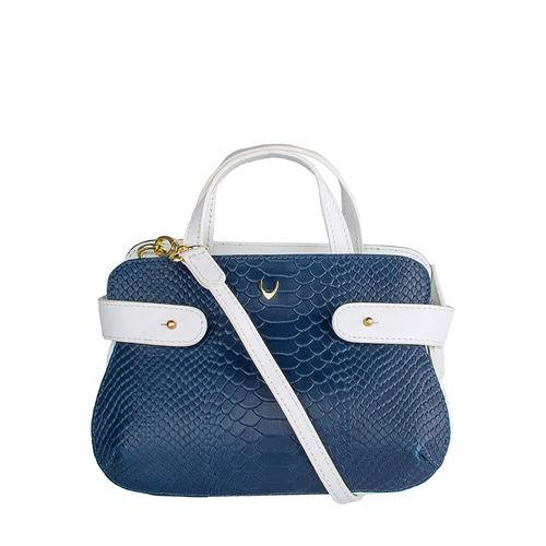 Brigitte 02 Women s Handbag, Snake Melbourne Ranch,  blue