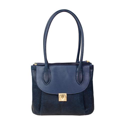 Tabit 02 Women s Handbag, Lizard Melbourne Ranch,  midnight blue
