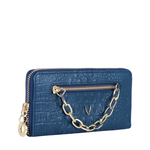 CHARLESTON W2 (RFID) WOMEN S WALLET BABY CROCO,  midnight blue