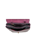 Alhena 01 Women s Handbag, Cow Deer,  aubergine