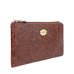 VIOLA W1 SB WOMENS WALLET FLOWER EMBOSSED,  tan