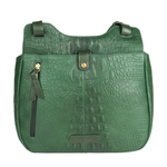 Fleur 02 Women s Handbag, Baby Croco Melbourne Ranch,  emerald green