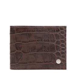 EE ATLAS W1 RF MENS WALLET CROCO,  brown