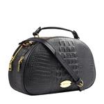 Hidesign X Kalki Infinite 01 Women s Handbag, Baby Croco,  black