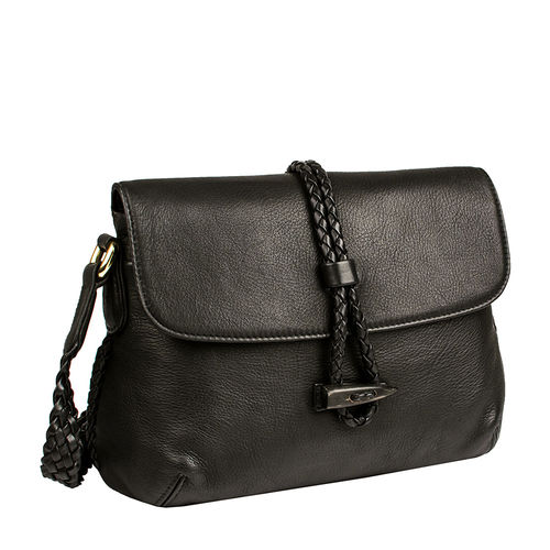 Sevruga Handbag,  black, deer