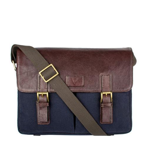 Bedouin 02 Men s Messenger Bag, Canvas E. I Goat,  navy blue
