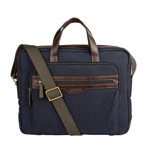 Viking 01 Men s Laptop Bag, Canvas E. I Goat,  navy blue