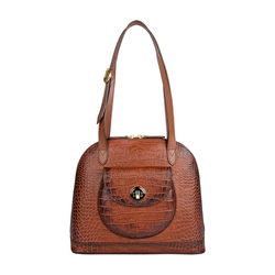 Croco 01 Handbag,  tan