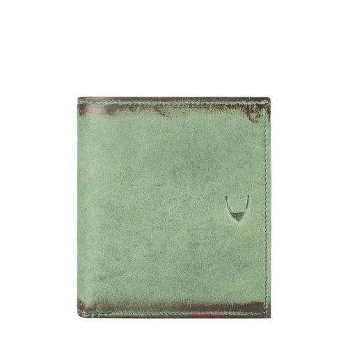296 L105 (RFID) MEN S WALLET CAMEL,  emerald green