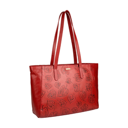 Keaton 01 Women's Handbag, E. I. Leaf Emboss Melbourne Ranch,  dark red