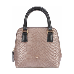 MADRE WOMENS HANDBAG SNAKE,  grey
