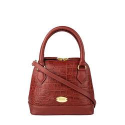 Ee Cleo 02 Handbag, croco,  brown