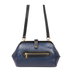 JAZZ 03 WOMEN'S HANDBAG OSTRICH EMBOSS,  midnight blue