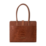 Mocha 02 Women s Handbag, Croco,  tan