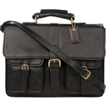 Castello Briefcase, ranchero,  black