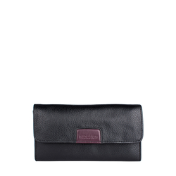 Meghan W1 (Rfid) Women's Wallet, Cowdeer Mel Ranch,  black