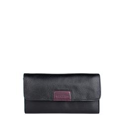 Meghan W1 (Rfid) Women's Wallet, Cowdeer Mel Ranch,  black