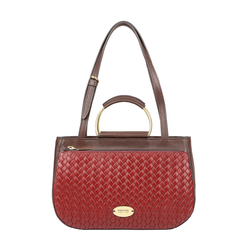 VIOLA 02 SB WOMENS HANDBAG WOVEN,  red