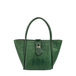 Mb Hermione Sling bag, baby croco,  emerald