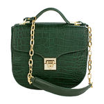 Sb Elsa Women s Handbag, Croco Melbourne Ranch,  emerald green