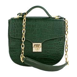 Sb Elsa Women's Handbag, Croco Melbourne Ranch,  emerald green