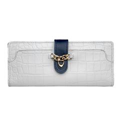 Sb Atria W1 (Rfid) Women's Wallet, Croco,  white