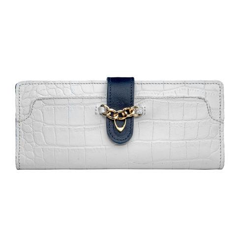 Sb Atria W1 (Rfid) Women s Wallet, Croco,  white