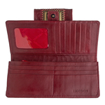 Amore W1 Women s Wallet, Elephant Lamb,  dark red, elephant