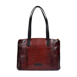 Scorpio 02 Sb Women s Handbag, Croco Melbourne Ranch,  red