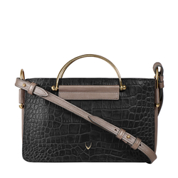 HIDESIGN X KALKI FLIRT 02 SLING BAG CROCO,  black