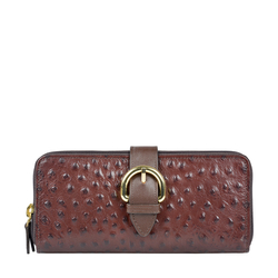 ELIZA W2 (RF) SB WOMENS WALLET OSTRICH EMBOSS,  brown