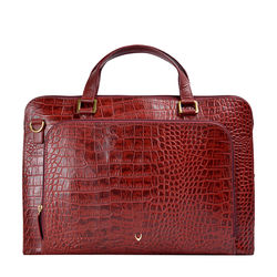 Biscotte 01 Women's Handbag, Croco Melbourne Ranch,  red
