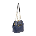 JAZZ 02 WOMEN S HANDBAG OSTRICH EMBOSS,  midnight blue