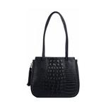 Rive Gauche 02 Women s Handbag, Baby Croco,  black