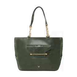 Delilah 03 Women's Handbag Snake,  emerald green
