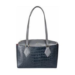 Kasai 03 Sb Women's Handbag, Croco,  midnight blue
