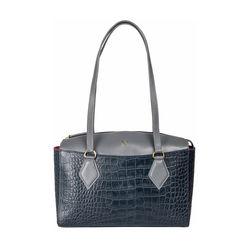 Kasai 03 Sb Women's Handbag, Croco,  midnight blue