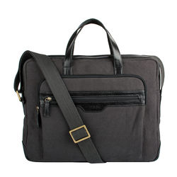 Viking 01 Men's Laptop Bag, Canvas E. I Goat,  black