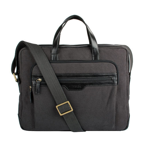 Viking 01 Men s Laptop Bag, Canvas E. I Goat,  black