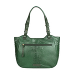 Fleur 01 Women s Handbag, Baby Croco Melbourne Ranch,  emerald