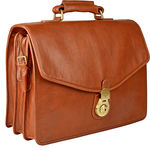 GI First Briefcase,  tan, ranchero
