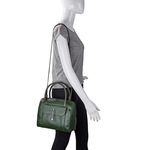Hong Kong 03 Sb Women s Handbag, Lizard Melbourne Ranch,  emerald green